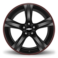 Gloss Black W/Red Stripe (20 x 8.5) 23333839