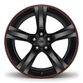 Gloss Black W/Red Stripe (20 x 9.5) 23333848