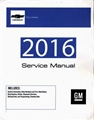 2016 Corvette Service Manual Set Gmp16Y