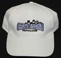 CED Embroidered White Cap CEDHW