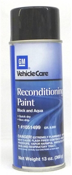 Car Trunk Black/Aqua Spatter Paint 1051499