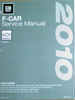 2010 Camaro Service Manual GMP10F