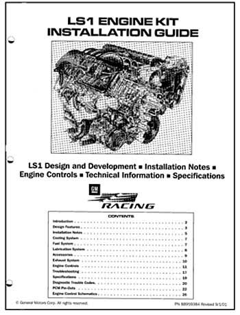 LS1 Engine Kit Installation Guide 88959384