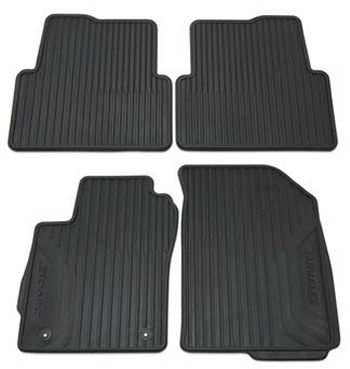 Premium All Weather Front And Rear Mat Pkg Black 95918878